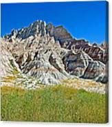 Trailhead For Saddle Pass Trail In Badlands National Park-south Dakota   Canvas Print
