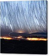 Trails Of Stars Over Big Island Canvas Print