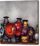 Train - A Collection Of Rail Road Lanterns  Canvas Print