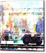 Train Abstract Blend 4 Canvas Print