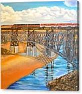 Train And Terrain  Canvas Print