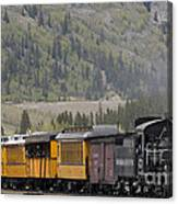 Train Arriving In Silverton Canvas Print