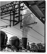 Train At Miaoli Station Canvas Print