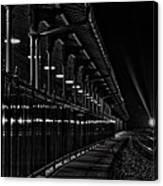 Train At Night Canvas Print