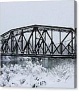 Train Bridge Over The Genesee River Canvas Print