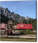 Train Car Motel At Rail Park In Dunsmuir Canvas Print