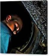 Train Coal Box 2 Canvas Print