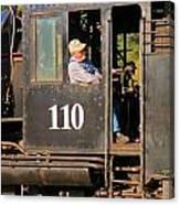 Train Conductor Canvas Print