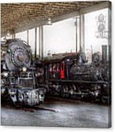 Train - Engine - 1218 - End Of The Line  Canvas Print