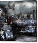 Train - Engine - 1218 - Waiting For Departure Canvas Print