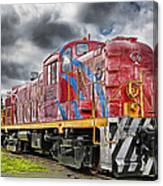 Train From The 60's Canvas Print