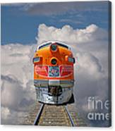 Train In Clouds Canvas Print