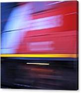 Train In Motion Canvas Print