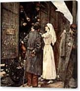 Train Of The Wounded, 1915 Canvas Print