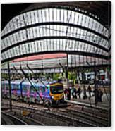 Train Pulling In Canvas Print