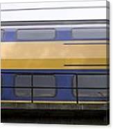 Train Rages Over The Railway Bridge On The Estate Mariendaal In Arnhem Netherlands Canvas Print