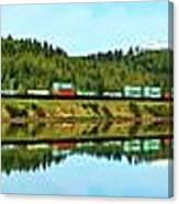 Train Reflecting Canvas Print