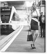 Train Station - Waiting Canvas Print