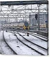 Train Station Zwolle In Winter Netherlands Canvas Print