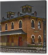 Train Stop Canvas Print