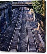 Train Tracks Into Town Canvas Print