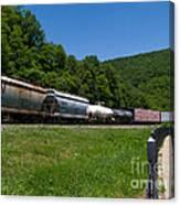 Train Watching At The Horseshoe Curve Altoona Pennsylvania Canvas Print