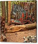 Train Wreck Along The Cheakamus River Canvas Print