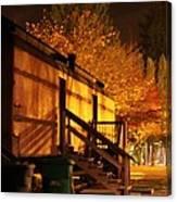 Train Yard At Night Canvas Print
