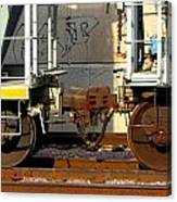 Train Yard Close Up 5 Canvas Print