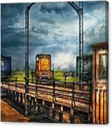 Train - Yard - On The Turntable Canvas Print