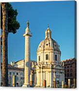 Trajans Column - Rome Canvas Print