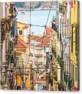 Tram, Barrio Alto, Lisbon, Portugal Canvas Print
