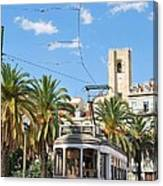 Tram In Lisbon Canvas Print