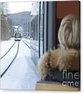 Tram In Winter Canvas Print