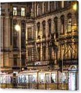 Tram Night Canvas Print