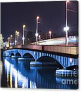 Tram Over A Bridge Canvas Print