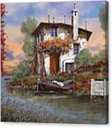 Tramonto Sul Lago Canvas Print
