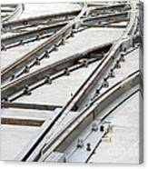 Tramway Track Construction Canvas Print