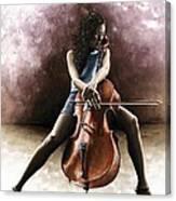 Tranquil Cellist Canvas Print