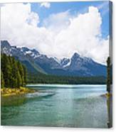 Tranquil Lake In The Canadian Rockies Canvas Print