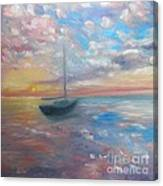 Tranquil Ocean Sunset Canvas Print