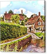 Tranquil Stream Lacock Canvas Print