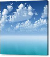 Tranquil Turquoise Ocean Canvas Print
