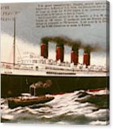 Transatlantic Liner, 1912 Canvas Print