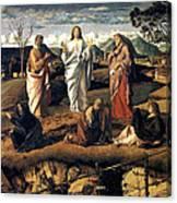 Transfiguration Of Christ 1487 Giovanni Bellini Canvas Print
