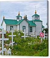 Transfiguration Of Our Lord Russian Orthodox Church In Ninilchik-ak Canvas Print