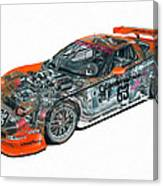 Transparent Car Concept Made In 3d Graphics 10  Canvas Print