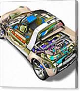 Transparent Car Concept Made In 3d Graphics 2 Canvas Print