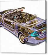 Transparent Car Concept Made In 3d Graphics 6 Canvas Print