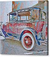 Transportation Grunge Canvas Print